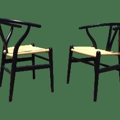 Hans Wegner Chairs Design Within Reach Wheelchair Airport Wishbone A Pair Chairish