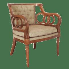 Mid Century Barrel Dining Chair Office Max Desk Mat Vintage Club Chairish