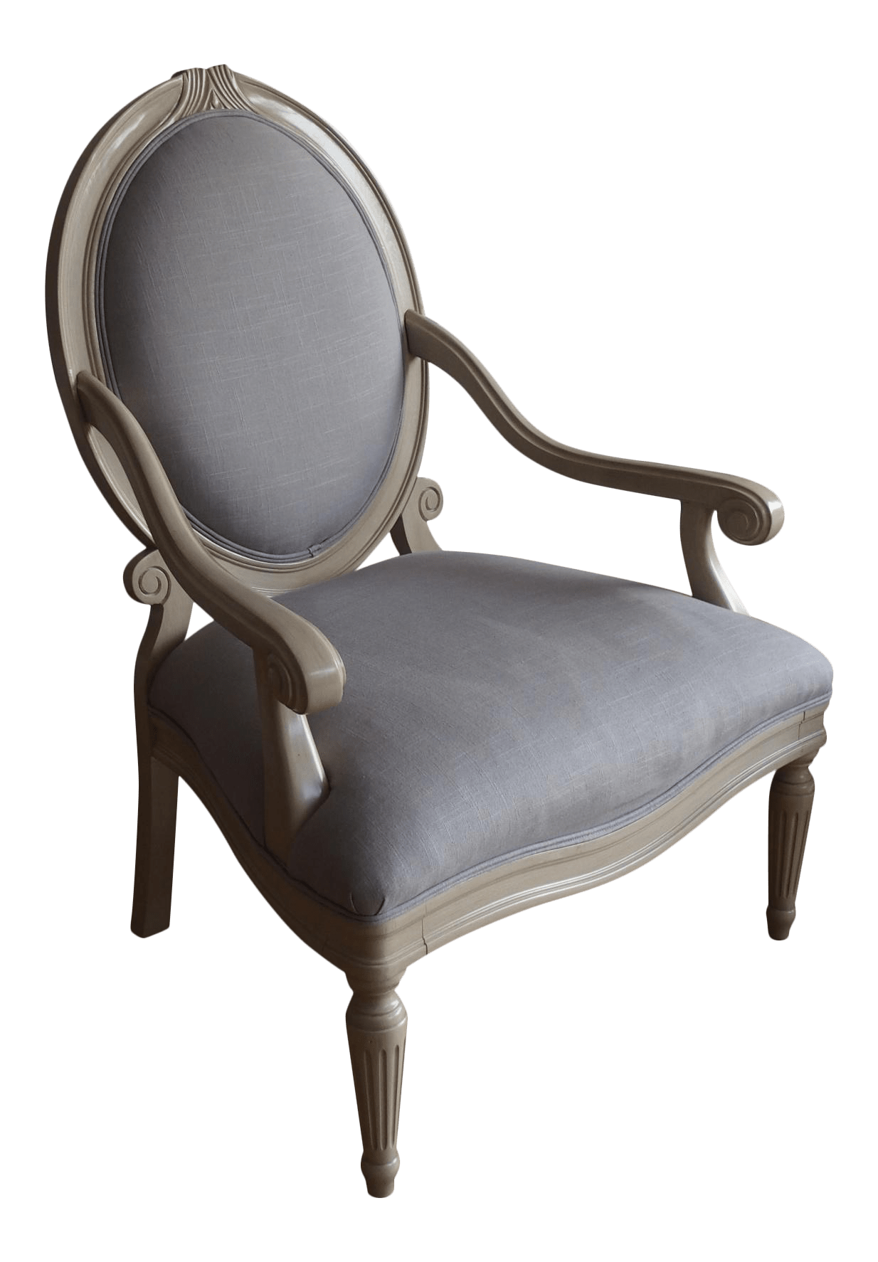 Light Gray Accent Chairs Armond Light Gray Accent Chair Chairish