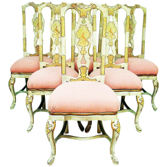 Painted Queen Anne Sofa Table Clack Target Dining Chairs Set Of 6 Chairish