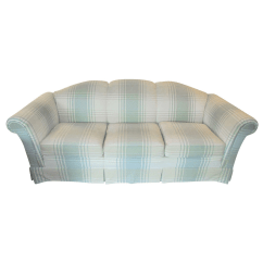 7ft Sofa Cover With Storage Underneath Clayton Marcus Plaid Slipcover Chairish