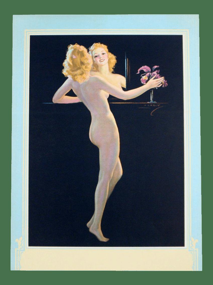 Vintage Art Deco Nude Illustration by Jules Erbit  Chairish