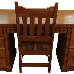 Southwest Dining Chairs Cheap Leather Office Style Executive Desk And Chair Chairish