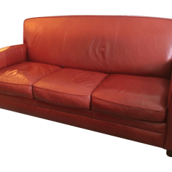 Thomasville Leather Chair Bow Ties For Chairs Contemporary Red Sofa Chairish