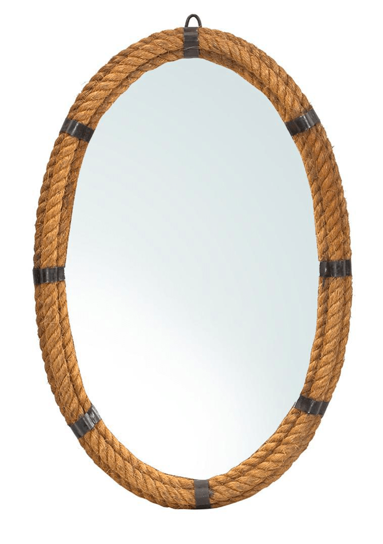 Nautical Rope Oval Mirror Chairish