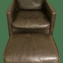 Room And Board Chair Modern Bedroom Bram Leather Ottoman Chairish