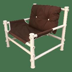 Pvc Lounge Chair Steel Vintage Pipe Chairish