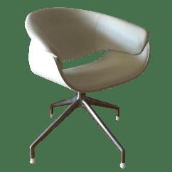Revolving Chair With Net Wicker Swivel Outdoor Dining B Andb Italia Sina Armchairs Set Of 4 Chairish
