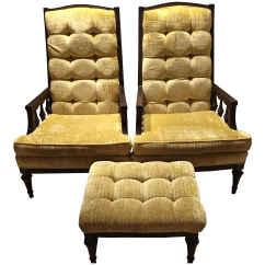 Tufted Yellow Chair Target Counter Height Chairs Mid Century Modern Retro Velvet