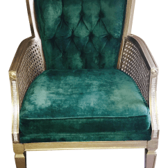 Green Velvet Tufted Chair Cardboard Designs Vintage Chairish