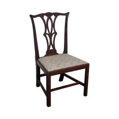 Chippendale Rocking Chair Design Description Antique Solid Mahogany Side Chairish
