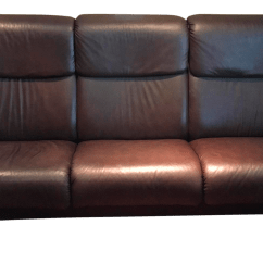 Ekornes Stressless Sofa Bed Polaris Leather Sectional Paradise High Back Chairish