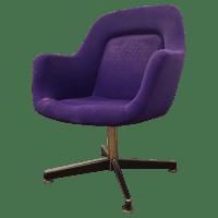 Purple Knoll Swivel Chair | Chairish