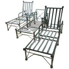 Metal Rocking Chair Runners Ottoman Gaming Outdoor Lounge Chairs Set Of 3 Chairish