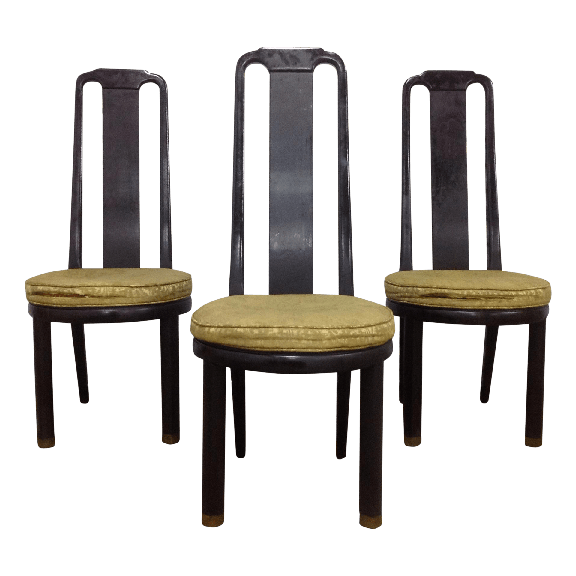 henredon asian dining chairs m s rocking chair modern black lacquer by 3 chairish