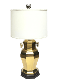 Vintage Asian / Chinese Style Brass Ginger Jar Table Lamp ...