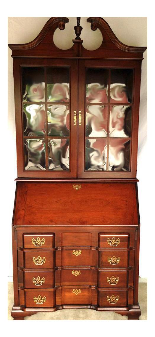 Vintage Jasper Cabinet Mahogany Secretary Desk  Chairish