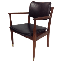 Danish Modern Oiled Walnut Executive Chair | Chairish