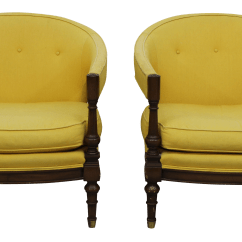 Yellow Upholstered Accent Chair High Activities For 1 Year Old Vintage Chairs Chairish