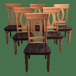 Maple Dining Room Chairs Folding Chair Tall Custom Set Of 6 Chairish