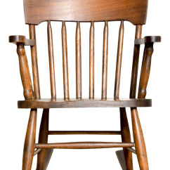 Antique Wooden Rocking Chairs Bathroom Vanity Turn-of-the-century Handcrafted Spindle Back Child's Chair | Chairish