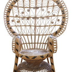 Vintage Peacock Chair Ergo Ball Reviews Rattan And Wicker Chairish