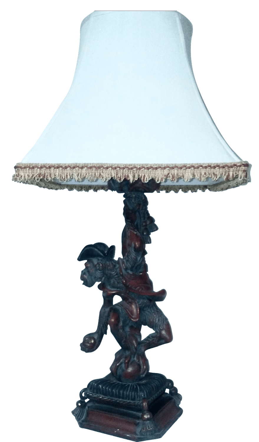 Vintage Monkey Table Lamp  Chairish