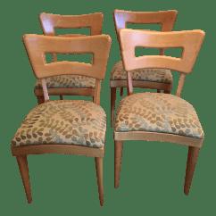 Heywood Wakefield Dogbone Chairs Best Geneva Glider Reviews Dog Bone Birch Wood Set Of 4