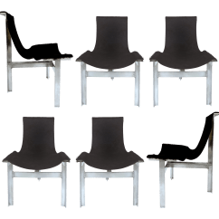 Black And White Cowhide Chair Set Of Chairs Sling Dining Quott Quot 6 Chairish