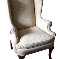 Antique Queen Anne Chair The Revolving Design Wingback Chairish