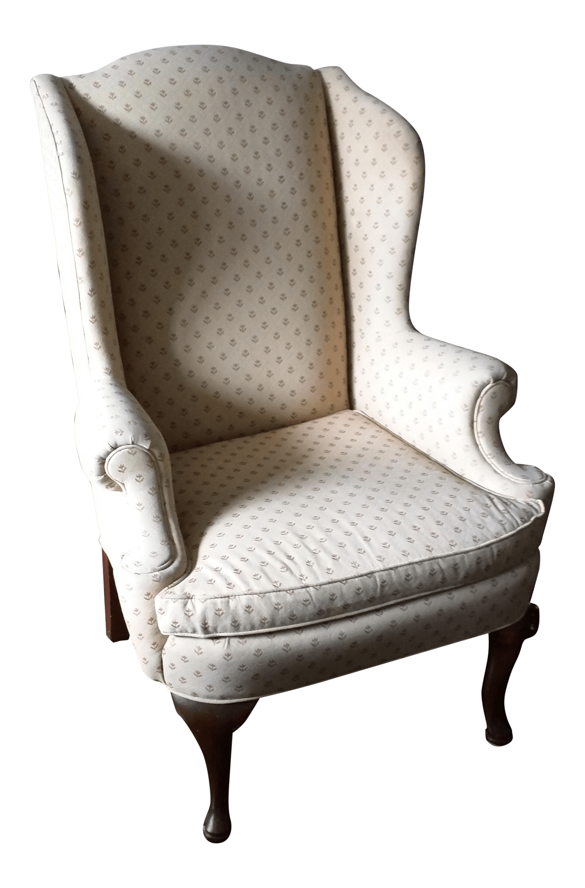 Queen Anne Wingback Chair Antique Queen Anne Wingback Chair Chairish