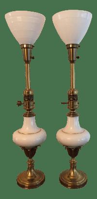 Stiffel Hollywood Regency Lamps - A Pair | Chairish