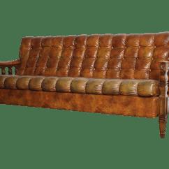 Spanish Sofa Brand Leather Sectional Sofas Macy S 1970s Revival Tortoiseshell Tufted Chairish