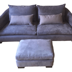 Montauk Sofas Sofa Beds For Small Bedrooms Modern Light Grey Purple Suede Julian
