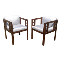 Mid-Century Modern Accent Chairs - A Pair | Chairish