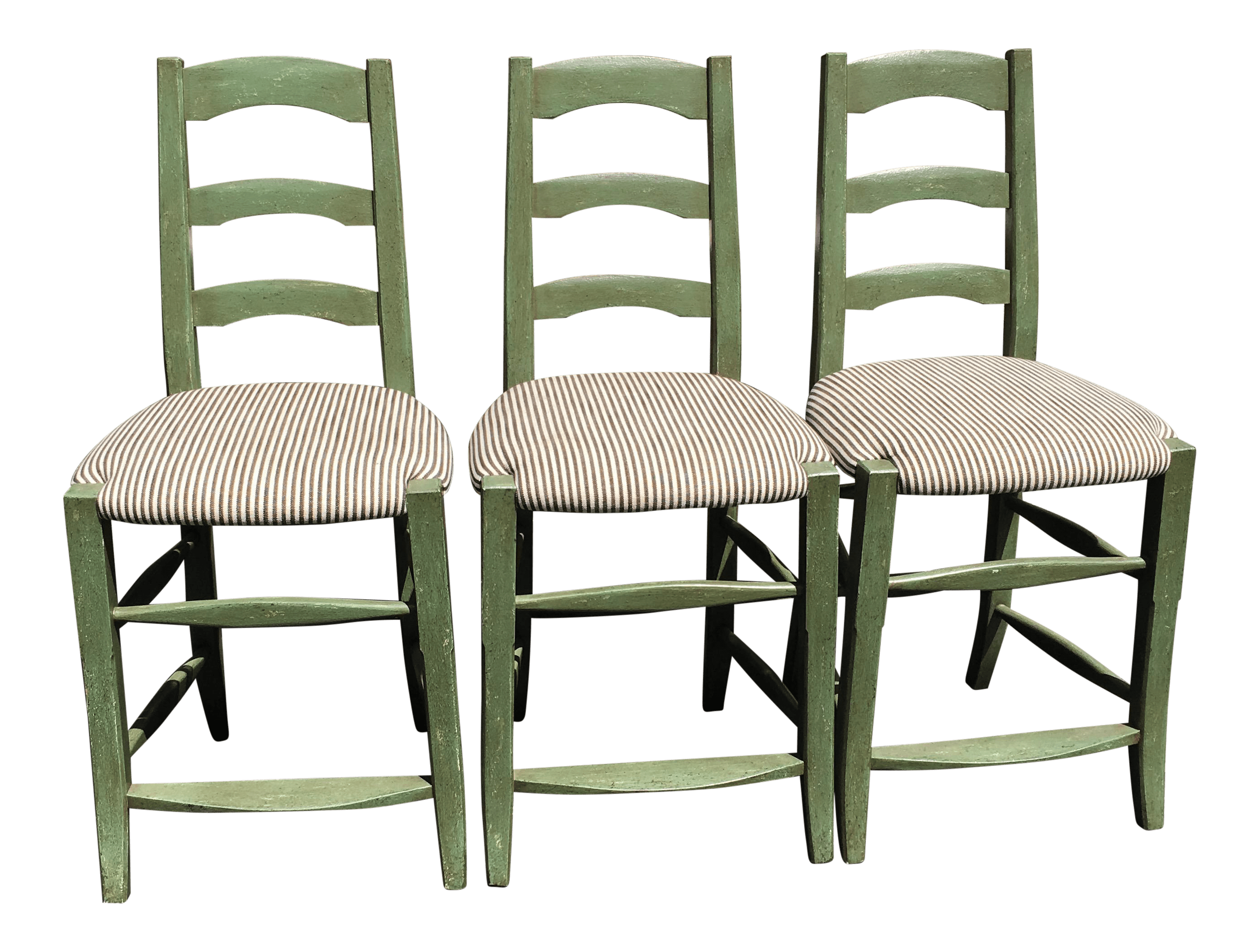 minton spidell chairs upholstered wingback dining french country bar stools set of 3 chairish
