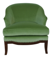 Green Velvet Accent Chair | Chairish