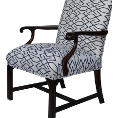 Navy And White Chair Steel To Buy Vintage Wooden Arm Chairish