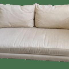 Contemporary Sofa With Wood Trim Cama Costa Rica Usados Modern Beige Cotton Chairish