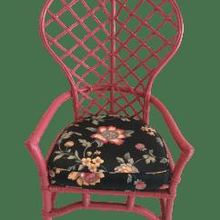 Ficks Reed Chair Swingasan Ikea Pink Lacquered Rattan Fan Chairish