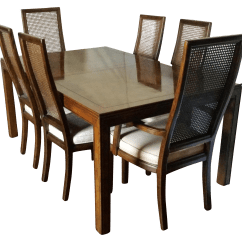 Henredon Chairs Dining Room Air Bag Chair Reviews Vintage Campaign Set Chairish