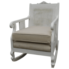 Design Within Reach Rocking Chair Photo Frame Vintage Cane Chairish