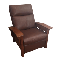 Broyhill Mission Style Brown Leather Chair | Chairish