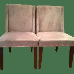 Studded Dining Room Chairs Lane Office Chair Velvet Pair Chairish