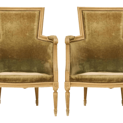 Bergere Dining Chairs Floor Cover For Under High Chair Louis Xvi Style A Pair Chairish
