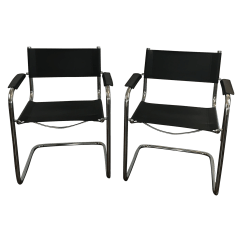 Mart Stam Chair Armless Patio Chairs Style Cantilever Pair Chairish