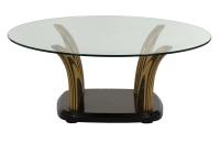 Henredon Glass Top Coffee Table | Chairish