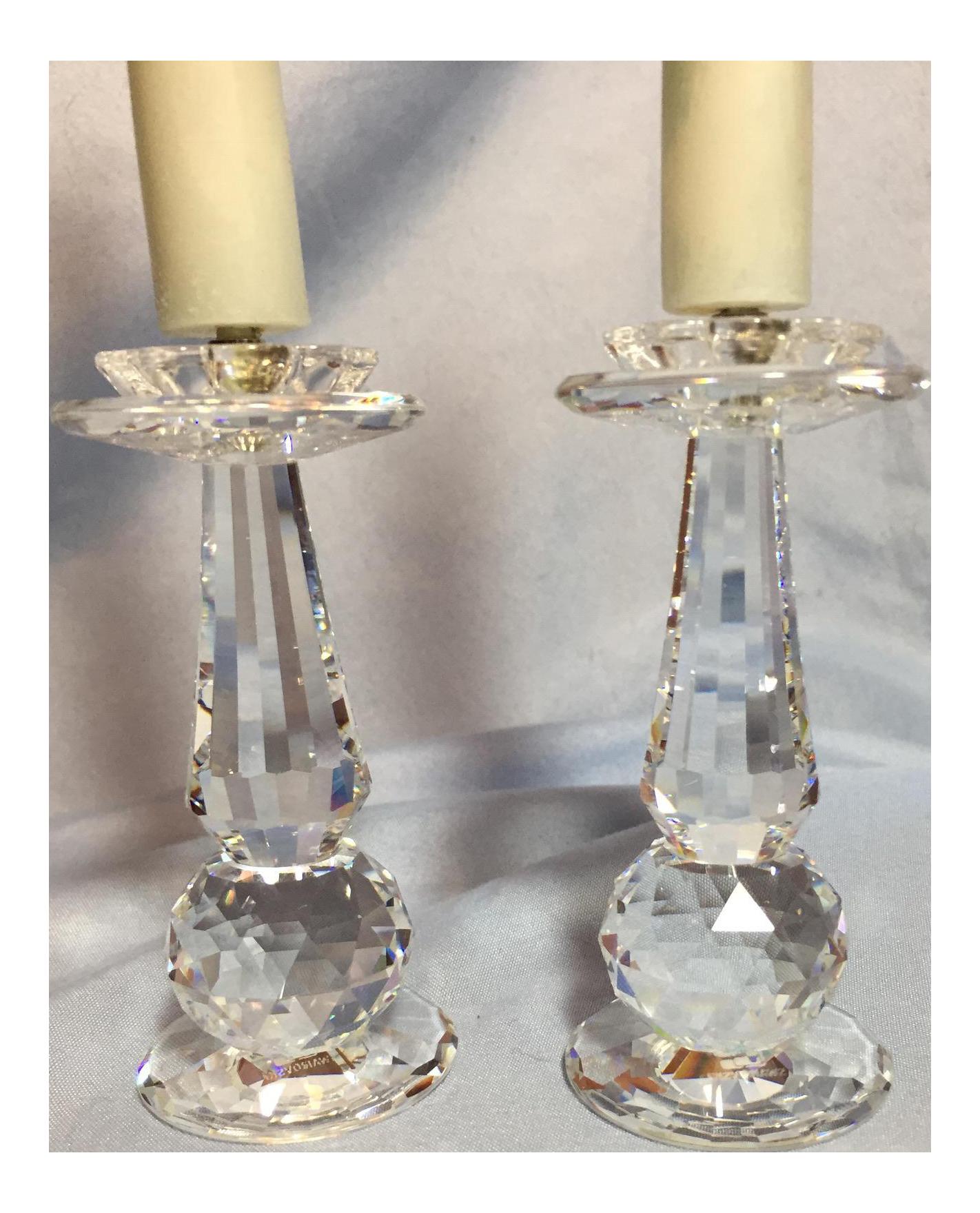 Swarovski Crystal Prism Candle Holders