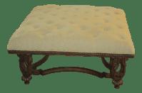 Tufted Beige Coffee Table/Ottoman | Chairish