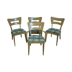 Heywood Wakefield Dogbone Chairs Teen Bedroom Chair Champagne Maple Dining 4 Chairish